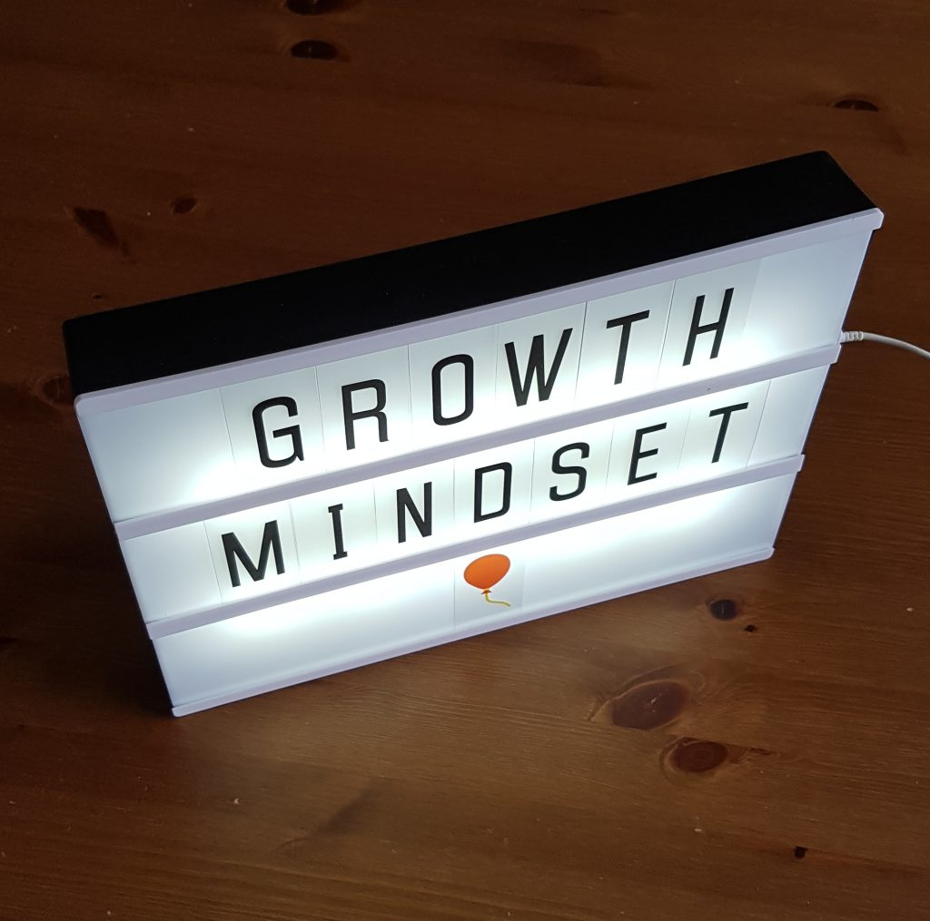 Photobox with words: Growth Mindset